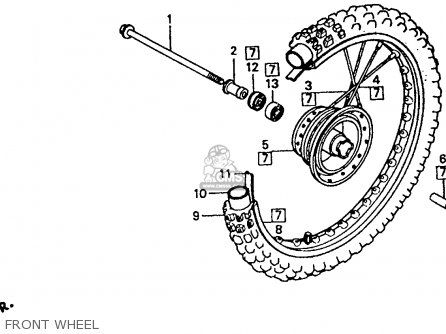 Honda Xr80r 1993 (p) Usa parts list partsmanual partsfiche