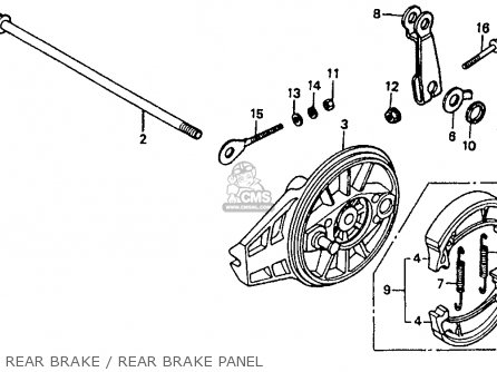Honda Xr80r 1993 (p) Usa parts list partsmanual partsfiche