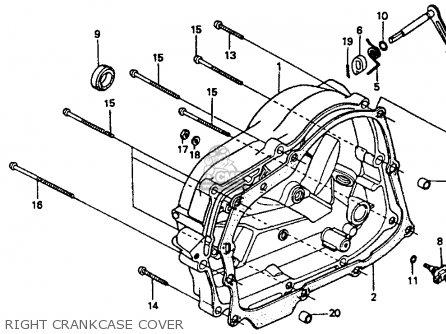 Honda XR80R 1993 (P) USA parts lists and schematics