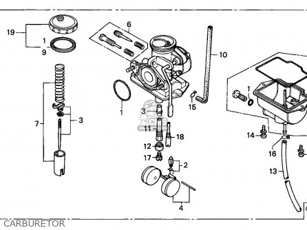 Honda Xr80r 1997 Mexico parts list partsmanual partsfiche