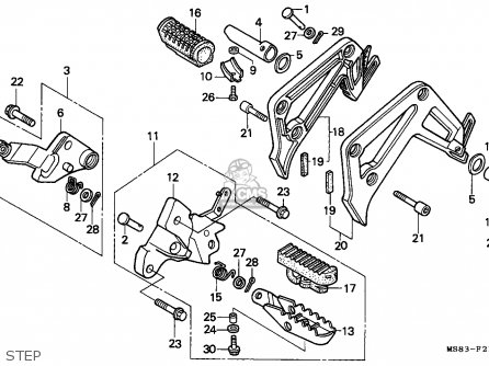 Honda Xrv650 Africa Twin 1989 (k) Italy parts list