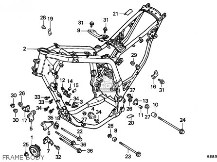 Honda Xrv650 Africa Twin 1989 (k) Portugal parts list
