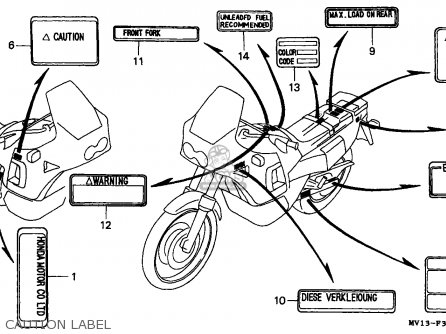 Honda XRV750 AFRICA TWIN 1990 (L) GERMANY parts lists and