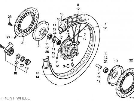 Honda Xrv750 Africa Twin 1993 (p) Netherlands parts list