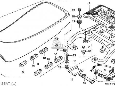Honda Xrv750 Africa Twin 1993 (p) Spain parts list