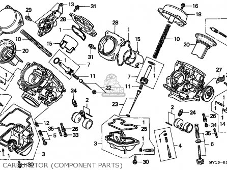 Honda Xrv750 Africa Twin 1994 Belgium parts list