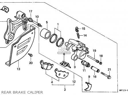Honda Xrv750 Africa Twin 1994 (r) France parts list