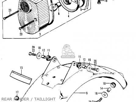 Honda Z50a K8 Mini Trail K8 1977 Usa parts list
