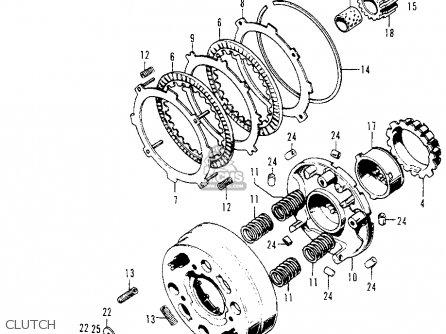 Honda Z50a Mini Trail 1974 Z50ak5 Usa parts list