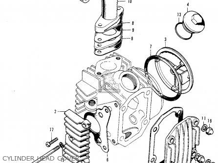 Honda Z50A MINI TRAIL 1974 Z50AK5 USA parts lists and
