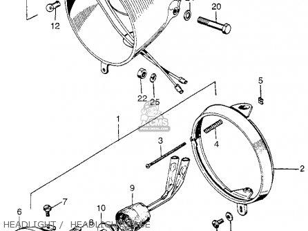 Honda Z50a Mini Trail K0 Usa Headlight Headlight Case