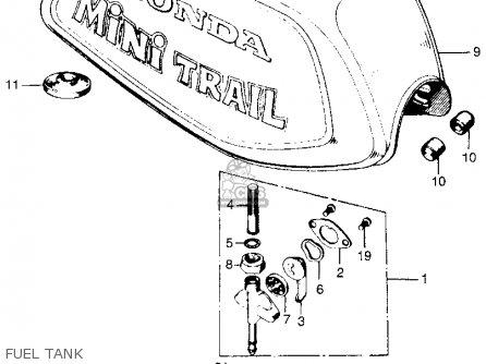 Honda Z50a Mini Trail K3 Usa parts list partsmanual partsfiche