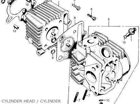 Honda Z50A MINI TRAIL K4 1973 USA parts lists and schematics