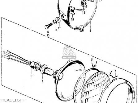 Honda Z50A MINI TRAIL K6 1975 USA parts lists and schematics