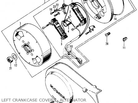 Honda Z50A MINI TRAIL K7 1976 USA parts lists and schematics