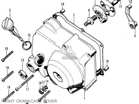 Honda Z50a Mini Trail K7 1976 Usa parts list partsmanual