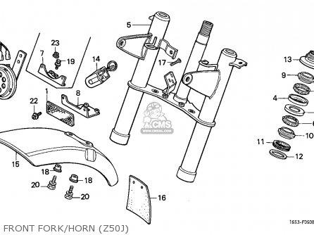 Honda Z50J MONKEY 1982 (C) FINLAND parts lists and schematics
