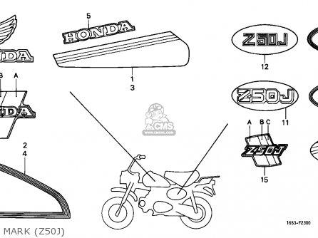 Honda Z50j Monkey 1986 (g) Finland parts list partsmanual