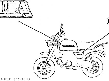Honda Z50j1 Gorilla Japan parts list partsmanual partsfiche