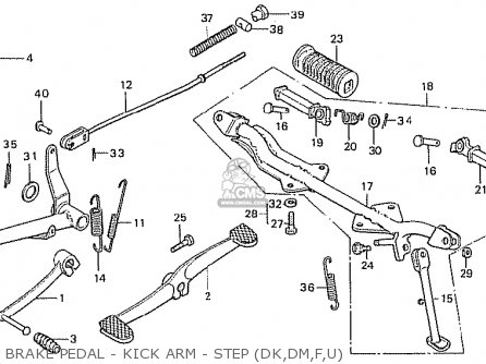 Honda Z50j1 Monkey France parts list partsmanual partsfiche