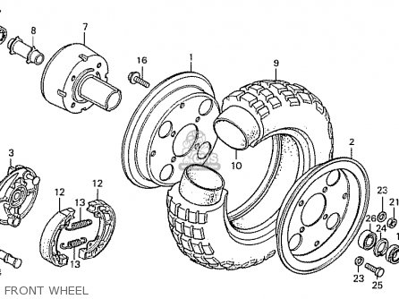 Honda Z50j1 Monkey France parts list partsmanual partsfiche