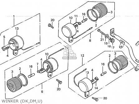 Honda Z50j1 Monkey General Export Mph parts list