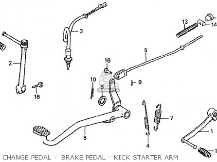 Honda Z50j4 Gorilla Japan parts list partsmanual partsfiche
