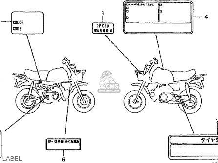 Honda Z50j4 Gorilla Japan parts list partsmanual partsfiche