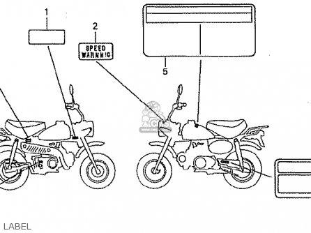 Honda Z50J4 MONKEY GORILLA JAPAN parts lists and schematics