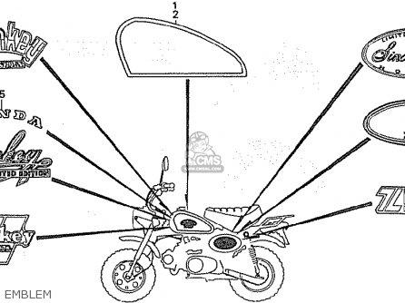 Honda Z50JC MONKEY GORILLA JAPAN parts lists and schematics