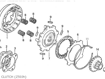 Honda Z50jh Monkey Finland parts list partsmanual partsfiche