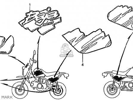 Honda Z50jn Monkey Baja Japan parts list partsmanual