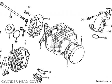 Honda Z50jp Monkey Baja Japan parts list partsmanual