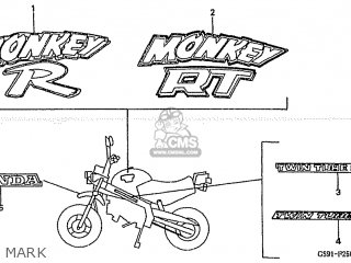 Honda Z50jr Type 2 1988 (j) Monkey Rt Japan Ab22-100 parts