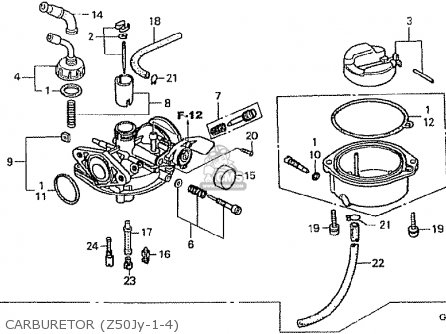 Honda Z50jy Gorilla Japan parts list partsmanual partsfiche