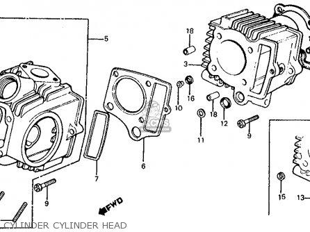 Honda Z50r 1980 Usa parts list partsmanual partsfiche