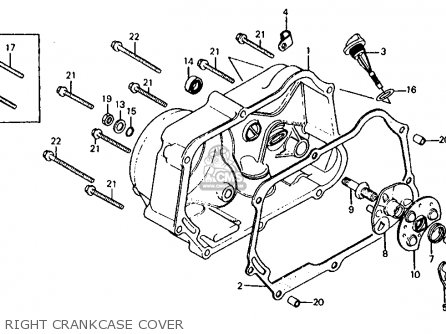 Honda Z50r 1983 (d) Usa parts list partsmanual partsfiche