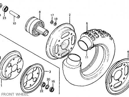Honda Z50r 1985 (f) Usa parts list partsmanual partsfiche