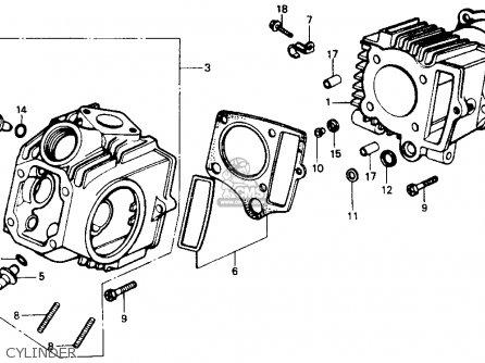 Honda Z50r 1987 (h) Usa parts list partsmanual partsfiche