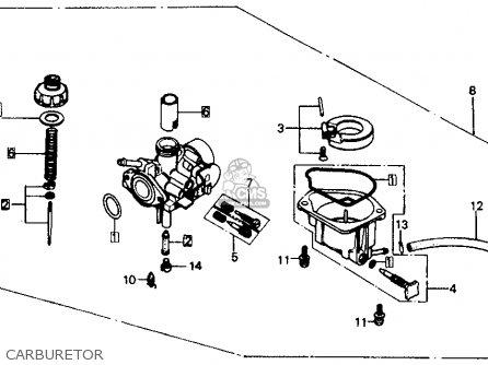 Honda Z50r 1989 Usa parts list partsmanual partsfiche