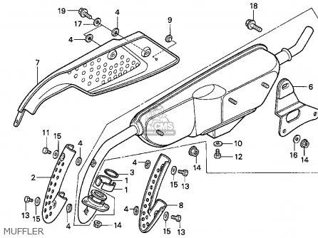 Honda Z50r 1995 Usa parts list partsmanual partsfiche