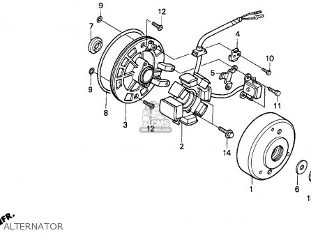 Honda Z50r 1999 (x) Usa parts list partsmanual partsfiche