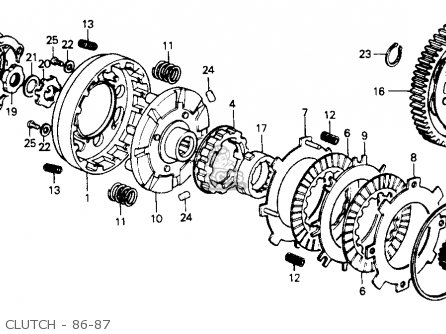 Honda Z50rd 1986 (g) Usa parts list partsmanual partsfiche