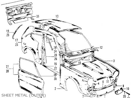 Honda Z600 COUPE 1972 2DR (KA) parts lists and schematics