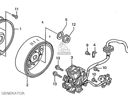 Honda ZN110Y NICE parts lists and schematics