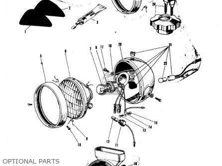 Kawasaki 1967 A1ss parts list partsmanual partsfiche
