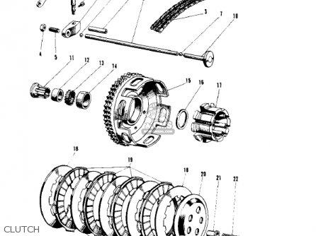 Kawasaki 1967 W1 parts list partsmanual partsfiche