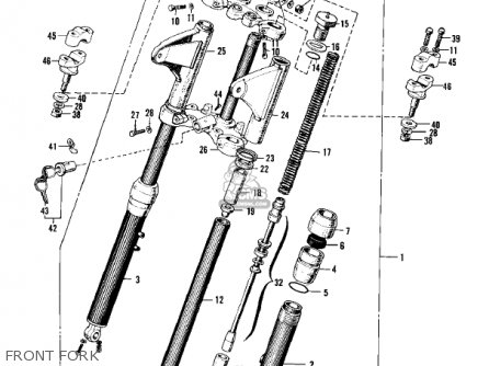 Kawasaki 1968 F4 Sidewinder parts list partsmanual partsfiche