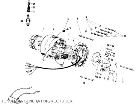 Kawasaki 1969 F4 Sidewinder parts list partsmanual partsfiche
