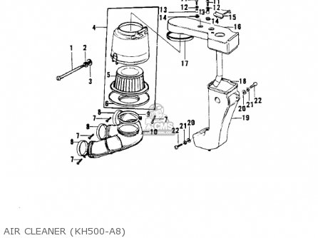 Kawasaki 1969 H1 Mach Iii parts list partsmanual partsfiche